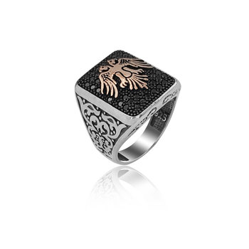 925 Silver Kayi Ring Resurrection Ertugrul Ring for Men