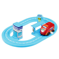 CAR TRACK WITH CAR AND BUILDING RUSSIAN STORE FREE SHIPPING DISCOUNT SALE