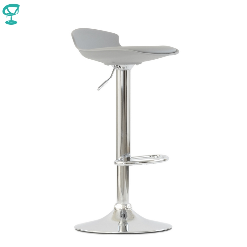 95634 Barneo N-264 High Plastic Kitchen Breakfast Bar Stool Swivel Bar Chair Gray Color Free Shipping In Russia