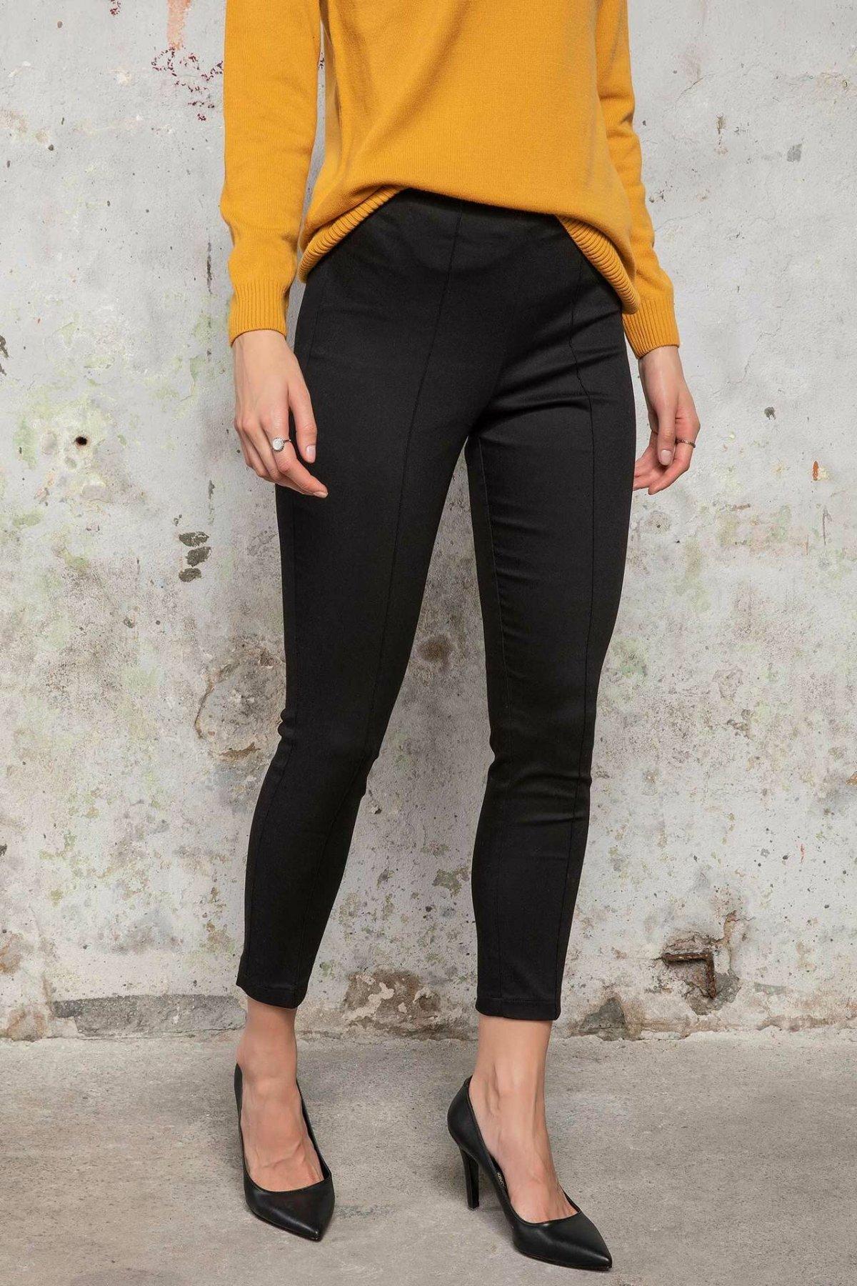 DeFacto Women Cotton Skinny Trousers Female Casual Comfort Pencil Pants High Qualilty Crop Pant Female -K3008AZ18WN