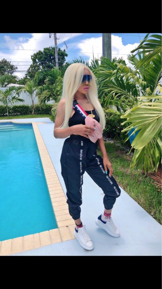 Harem Pants Trousers Women Full Length Loose Jogger Mujer Sporting Elastic Waist Black Casual Combat Streetwear Fashion photo review