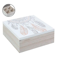 Decorative box (15 x 15 x 6 cm) Foldable Storage Bags     -