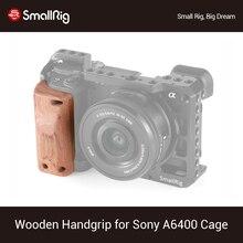 SmallRig a6400 klatka operatorska drewniany uchwyt do Sony A6400 klatka Quick Release drewniany uchwyt rękojeści APS2318