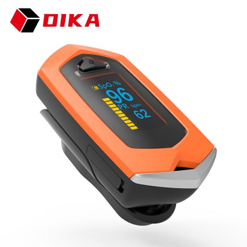 Платный Пульсоксиметр цифровой с OLED-экраном, профессиональный Пальчиковый измеритель уровня кислорода в крови, пульсометр пульсоксиметр н...