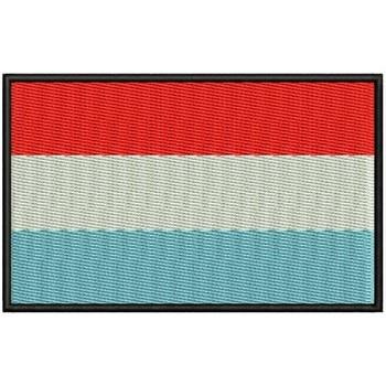 Bandera Luxemburgo Para Mascarilla Parche Bordado Sắt Miếng Dán Toppa Ricamata Gestickter Miếng Dán Miếng Dán Brode