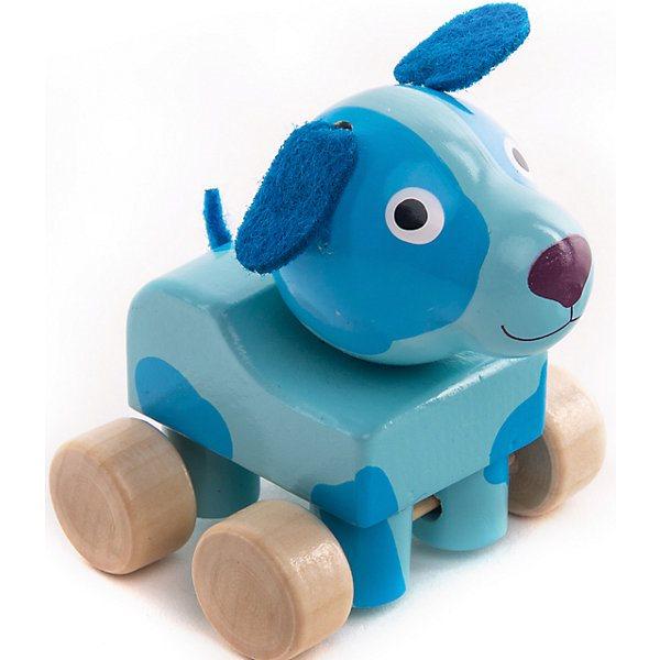 Figurine Wooden Wood Dog Woof-Woof