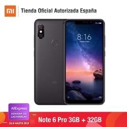 [Wersja globalna dla hiszpanii] Xiaomi Redmi Note 6 Pro (pamięci wewnętrzne de 32 GB, pamięci RAM de 3 GB, bateria 4000, Cuatro camaras con IA) 3