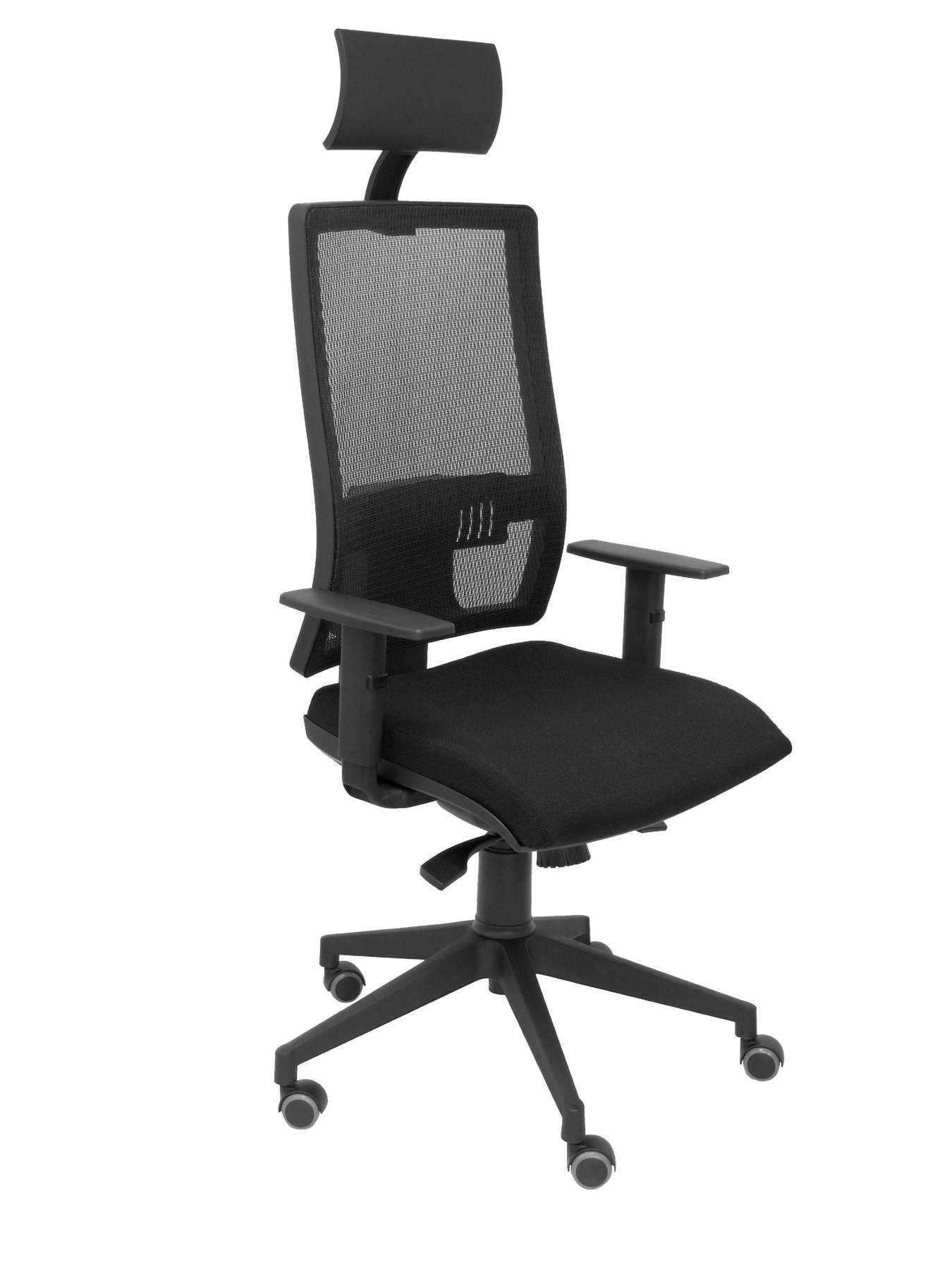 Ergonomic Office Chair With Mechanism Synchro And Adjustable Height-high Back Mesh Breathable With Cabece