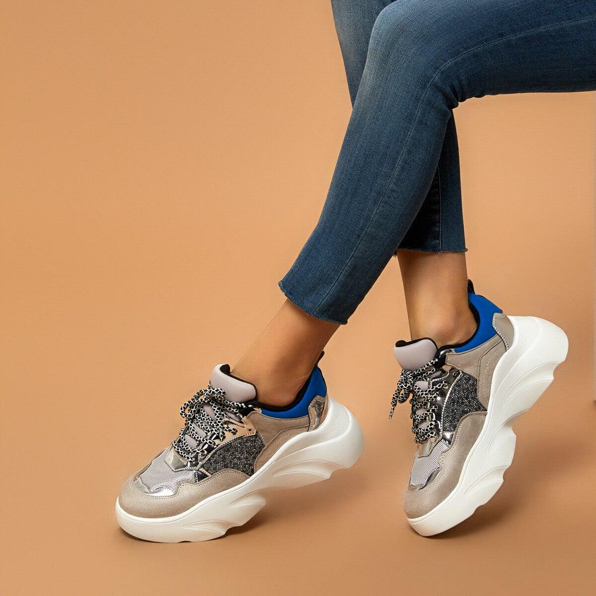FLO 19SF-2054 Gray Women 'S Sneaker Shoes BUTIGO