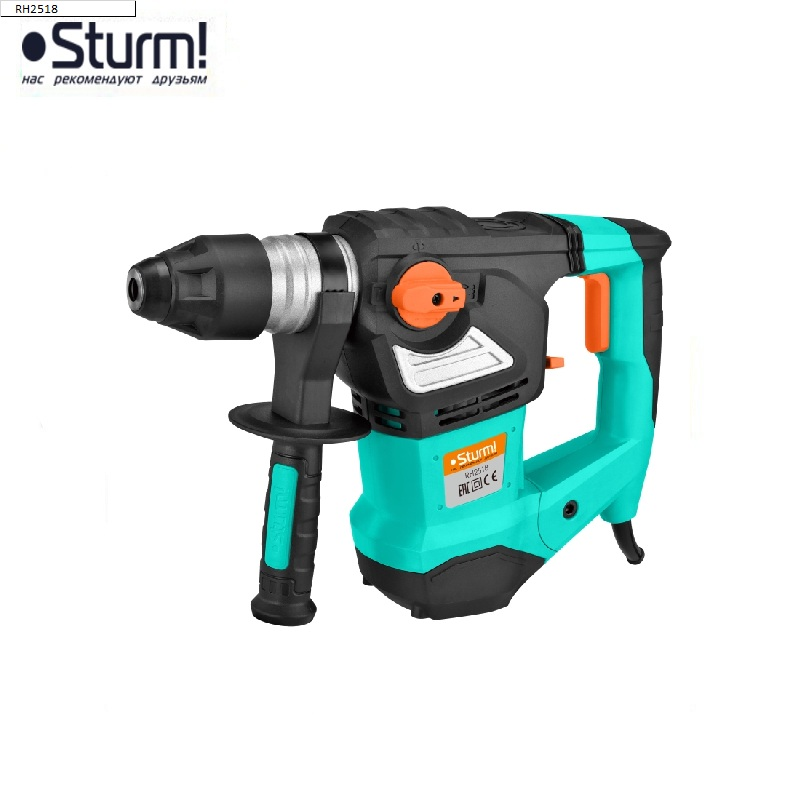 RH2518 Sturm rotary hammer, 1850 W, 0-4400 bpm, 0-900 rpm, 3 modes, case  Jackhammer Drilling and Grooving operation Drilling id2195p hammer drill pros sturm 1000 w 0 2700 rpm 0 45900 bpm percussion drill boring hammer drilling in concrete