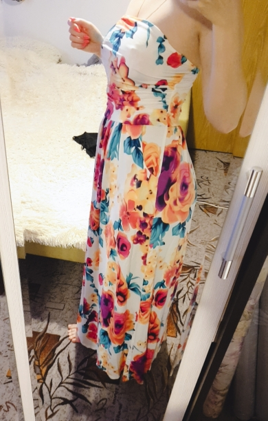Print Bohemian Floral Dress Sexy Strapless Summer Women  Beach Maxi Long Dresses Robe Femme Party Dress Mujer Sundress photo review