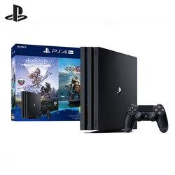 Kit Sony PlayStation 4 Pro 1 TB HDD) Schwarz (CUH-7208 В) + HZD spiel God of War