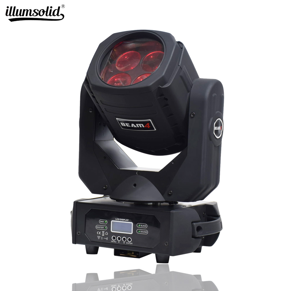 LED Super Beam 4x25W Moving Head Light For Disco Bar Party Effect Light