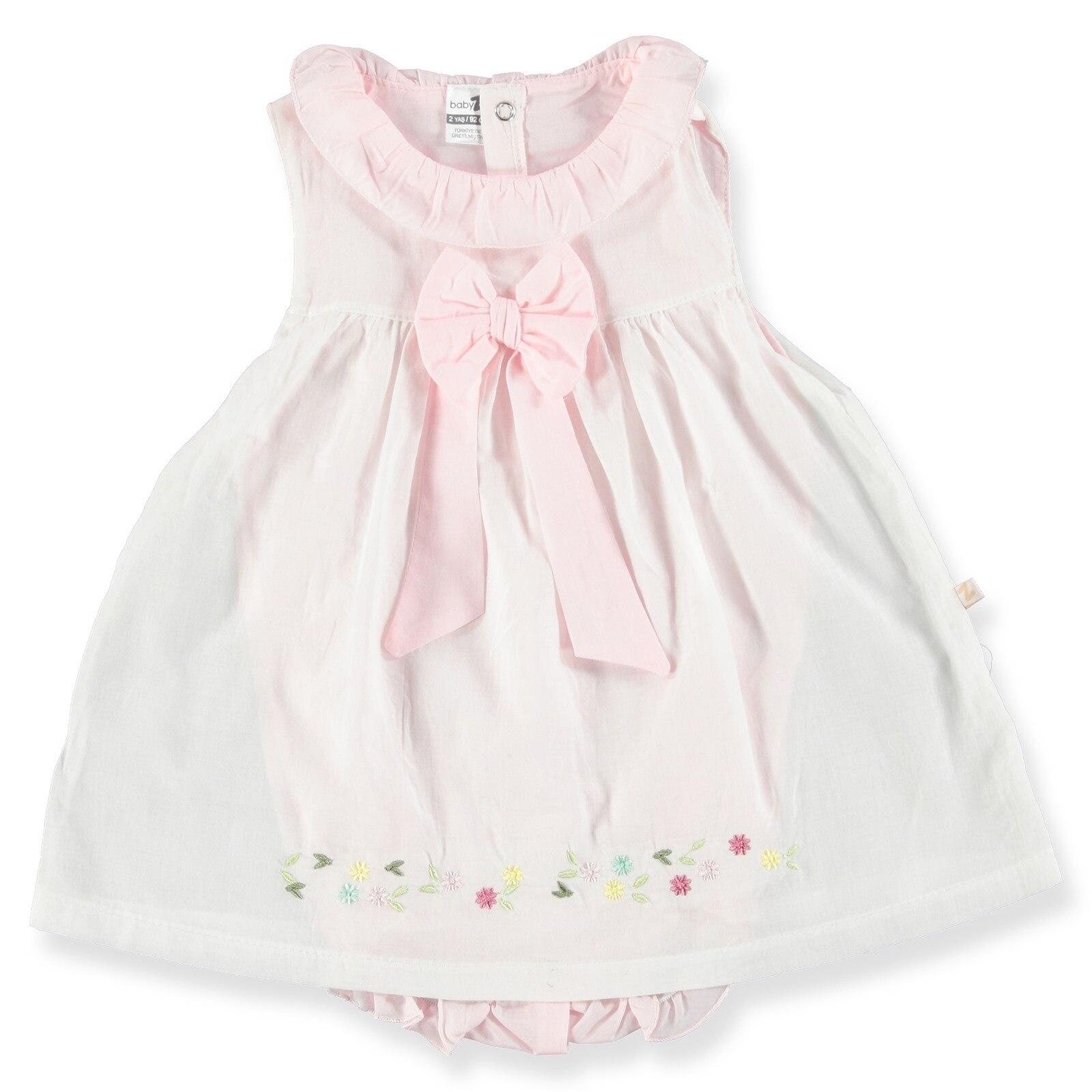 Ebebek BabyZ Baby Girl Embroidered Sleeveless Dress Bodysuit