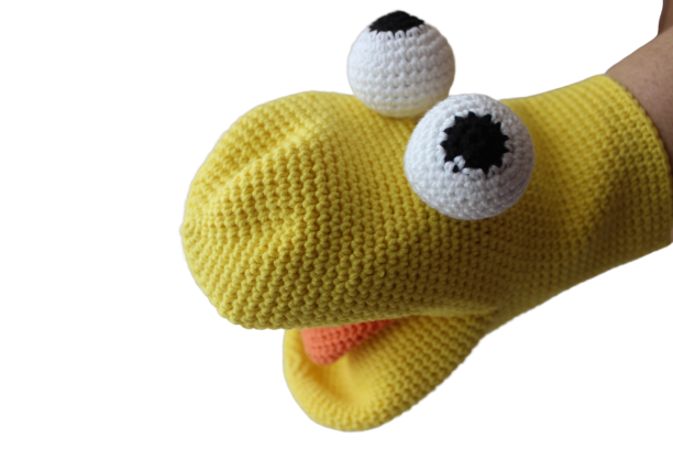 Hand Puppets Puppet Frog Crochet Knit Puppet Plush Toy Baby Stuffed Toys Birthday Gift For Children