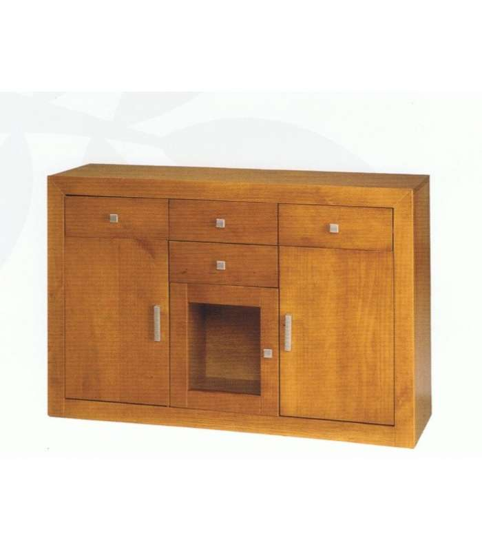 Dresser 3 Doors In Solid Wood