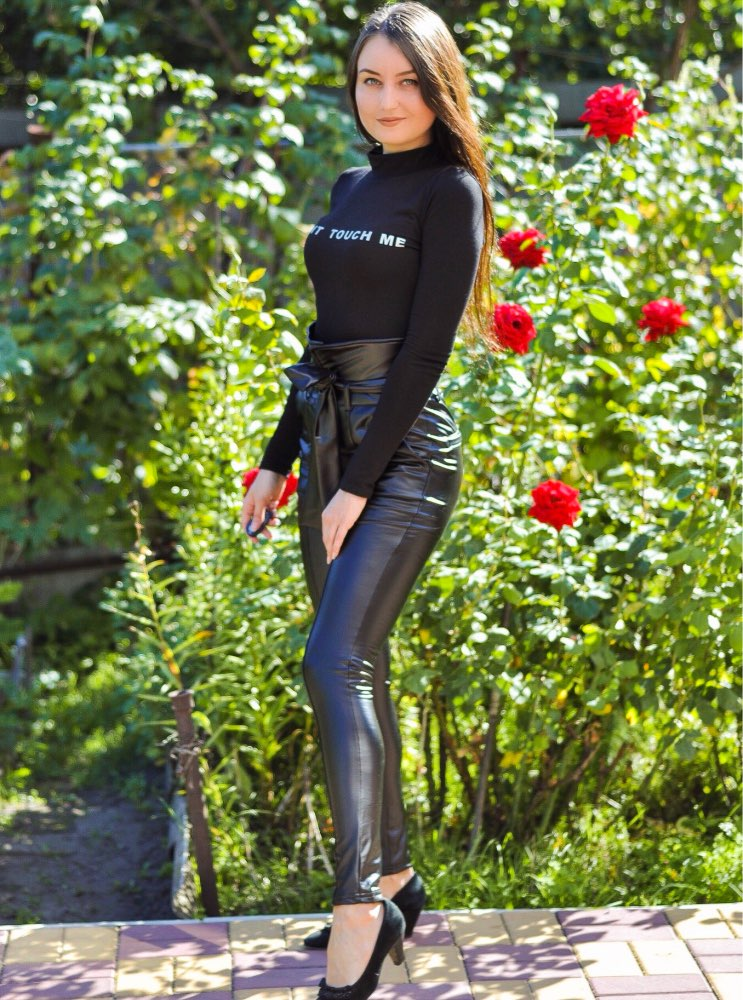 Gold Black Belt High Waist Pencil Pant Women Faux Leather Pu Sashes Long Trousers Casual Sexy Exclusive Design Fashion photo review