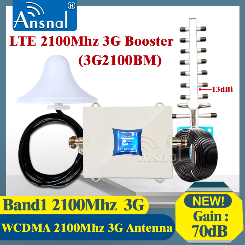 New!!2100Mhz 3G Cellular Amplifier LTE2100 UMTS 3G NetWork Mobile Signal Booster gsm Repeater 2G 3G 4G CellPhone Signal Repeater