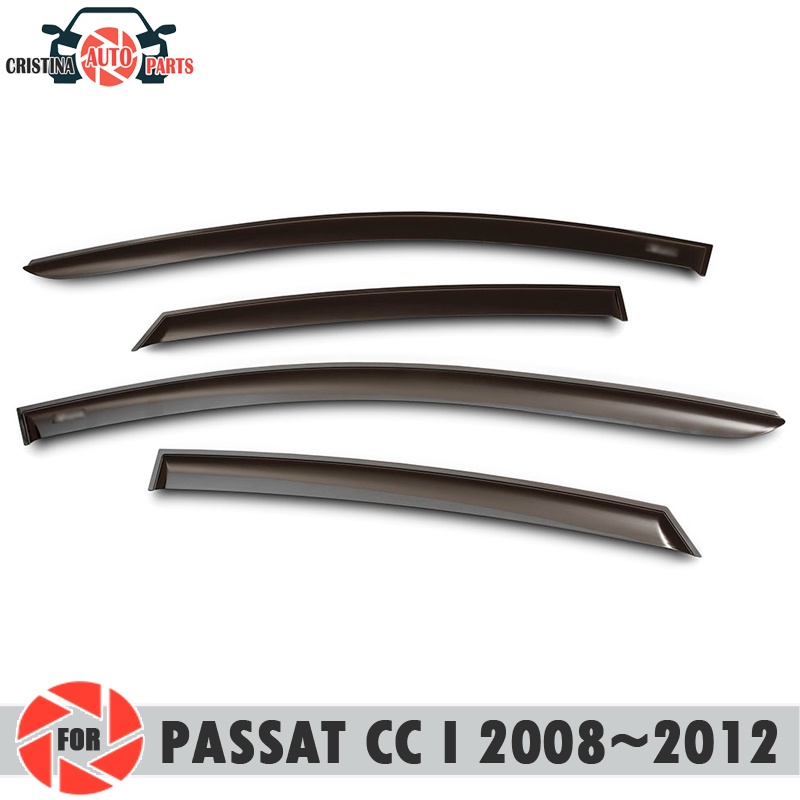 Window deflector for Volkswagen Passat CC I 2008~2012 rain deflector dirt protection car styling decoration accessories molding дефлекторы на окна voron glass corsar volkswagen passat cc ii 2012 н в комплект 4шт def00648