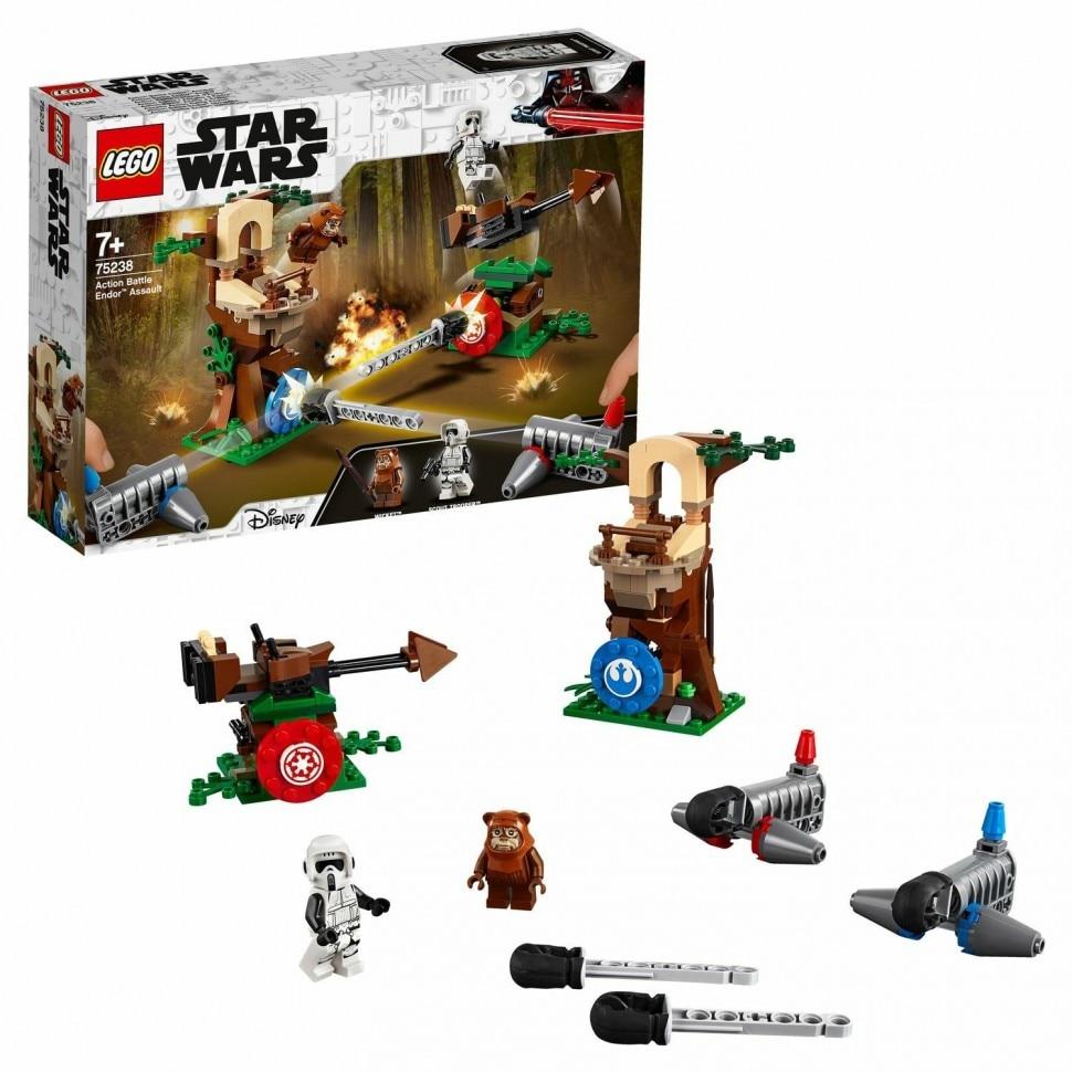 Конструктор LEGO Star Wars Нападение на планету Эндор 75238 Нажимные блоки    АлиЭкспресс