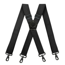 Suspenders for Men Belt Loop X Back 4 Snap Hooks Adjustable Elastic Trouser Braces Straps Solid Color Favor Gifts Work Suspender