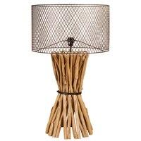 מנורת שולחן עץ (48X48x88 cm) באתר
