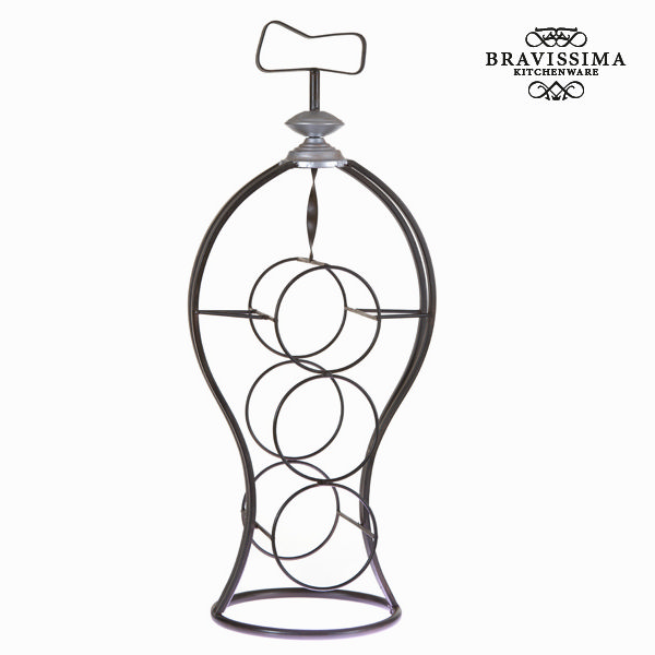 Bottle Rack Iron (59 X 23 X 19 Cm) - Art & Metal Collection By Bravissima Kitchen