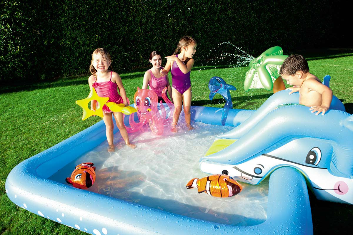 Bestway Inflatable Pool Child With Slide Aquarium Fantastic