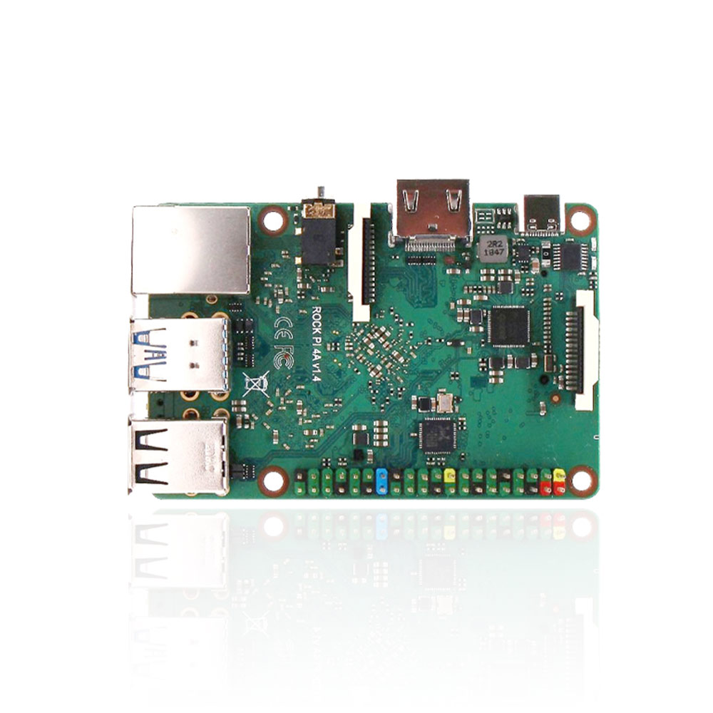New ROCK PI 4A V1.4 Rockchip Board ARM Cortex Six Core SBC/Single Board Computer Compatible With Official Raspberry Pi Display
