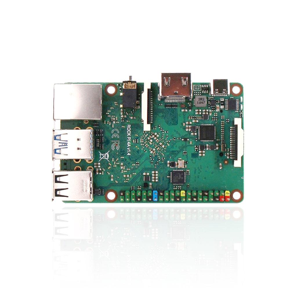 New ROCK PI 4A V1.4 Rockchip Board ARM Cortex Six Core SBC/Single Board Computer Compatible With Official Raspberry Pi Display