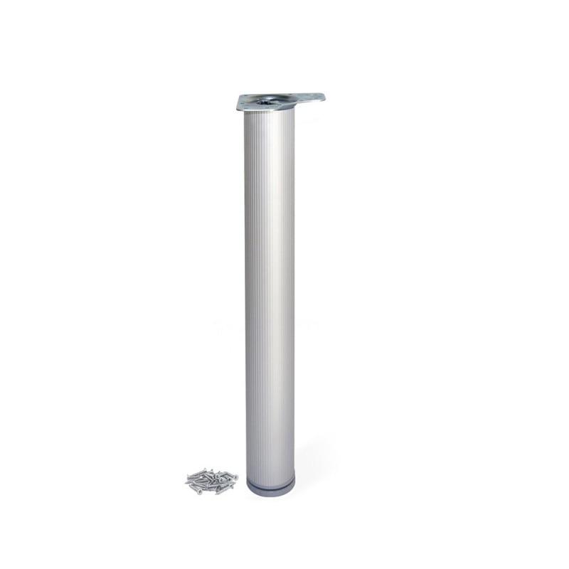 Table Leg Dimmable Emuca D. 80x830mm Anodized Aluminum Matte