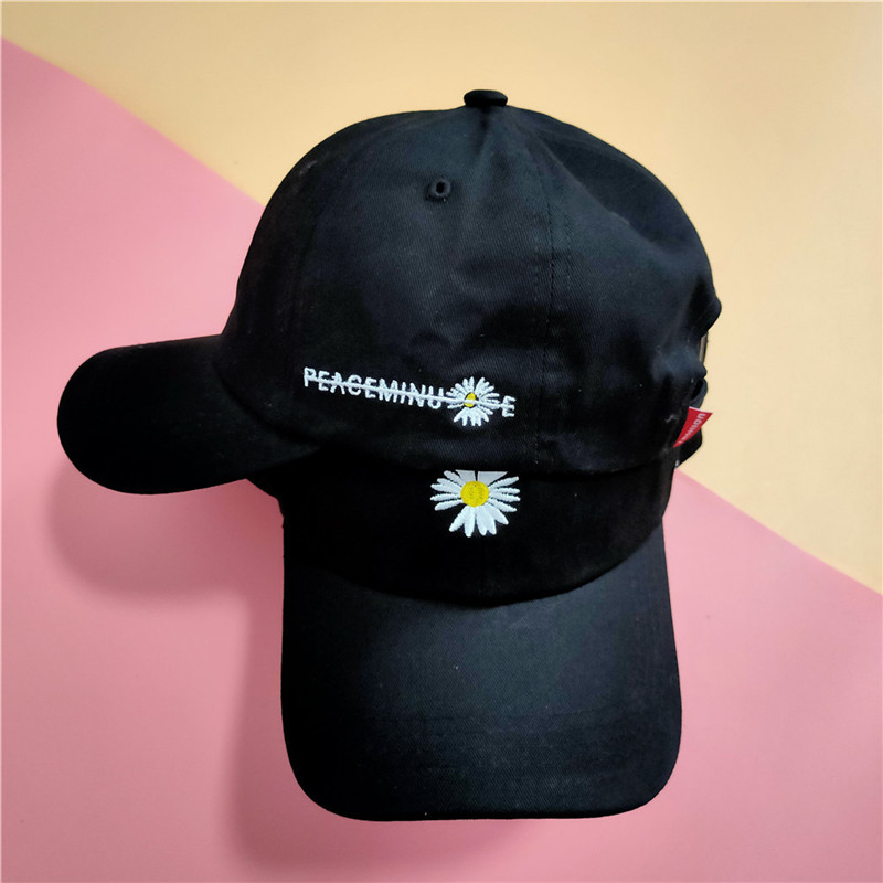 KPOP  Baseball Cap Embroidery Peaceminusone Daisy Visor Party Accessories