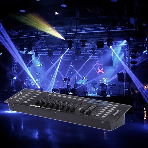 dj controlador de luz discoteca 192 canais dmx512 controlador console para palco festa luzes discoteca