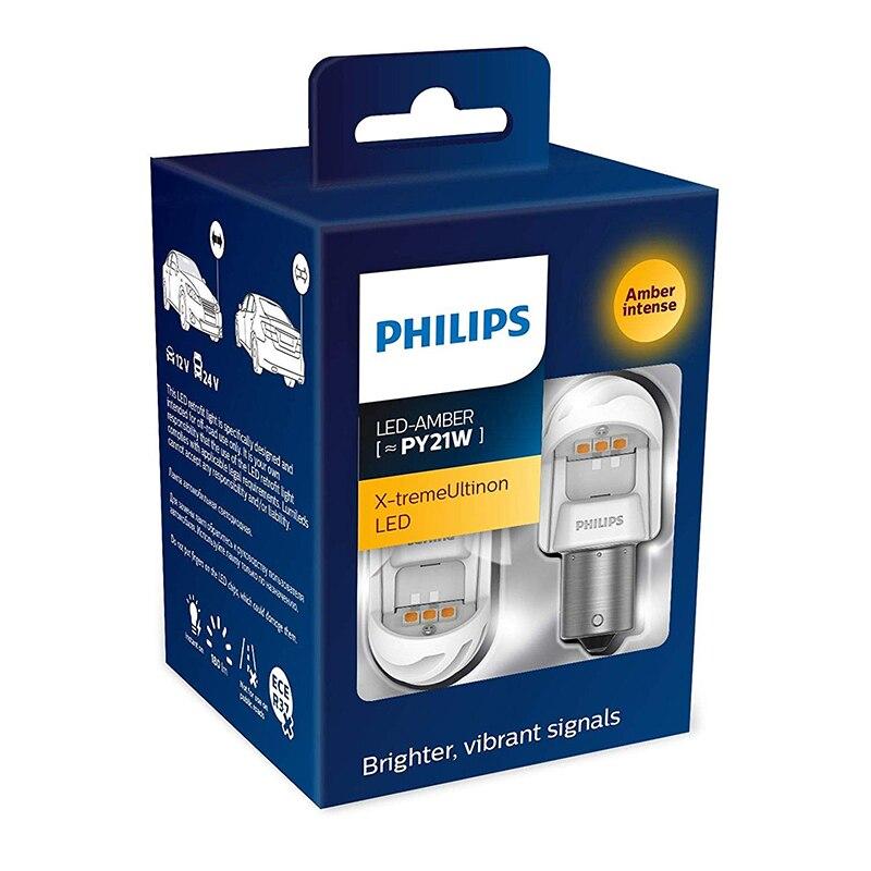 Luz de advertencia LED Philips para coche x-tremeultinon 11498 PY21W luz de lectura pequeña
