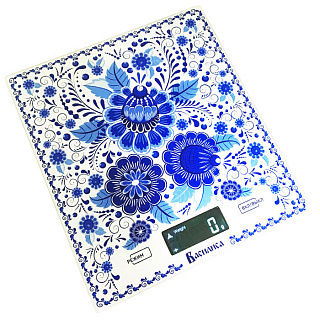 "Scales electronic desktop Vasilisa wa 005 ""Gzhel"" (kitchen)|Kitchen Scales| |  - title="