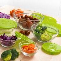 Set di 5 scatole di pranzo di Vetro Eh|Contenitori per vivande|Casa e giardino -