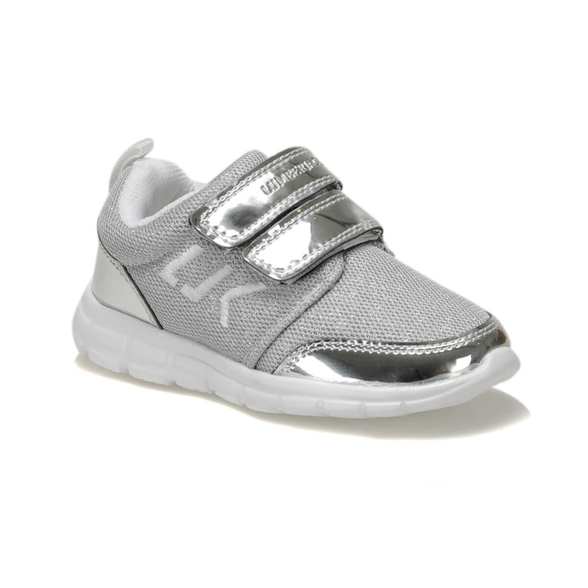 FLO SMASH Silver Female Child Sneaker Shoes LUMBERJACK