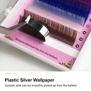 Image 4 - NAGARAKU Color Eyelashes Makeup 3D Mink Lashes 4 Cases lot Rainbow Color Super Soft Natural Faux cils Artificial Macaron