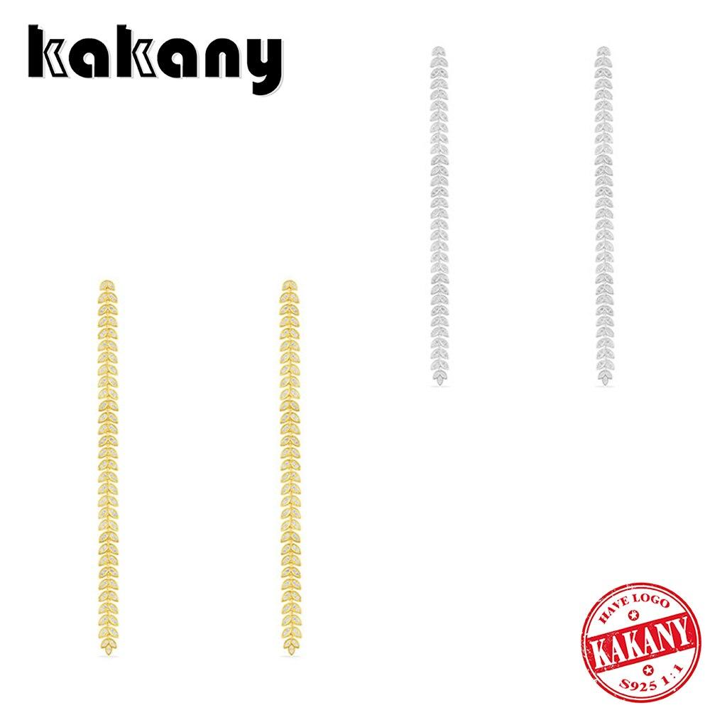 KAKANY nouvelle mode Glamour cubique zircone longue feuille boucle d'oreille forme mode luxe robe décoration dames fête bal bijoux