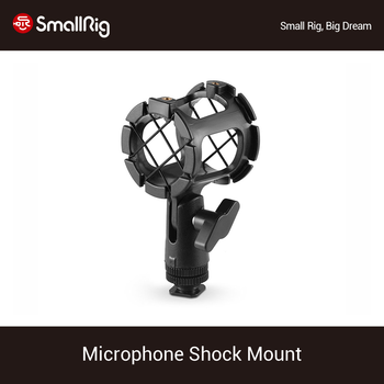 SmallRig Microphone Shock Mount Condenser Microphone Shock Mount Clip Mic Holder Stand for Camera Shoes and Boompoles 1859 boya anti shock mount for by mm1 microphone