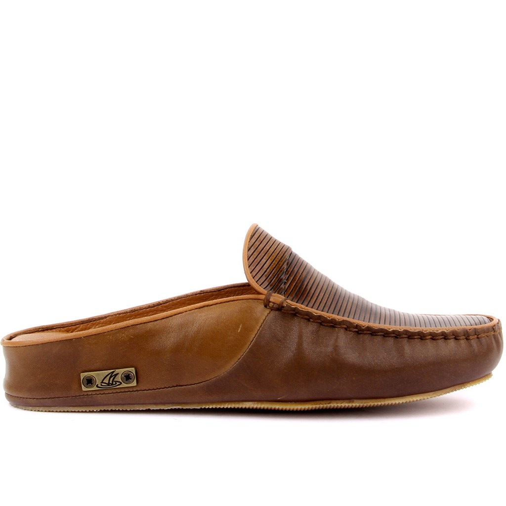 Sail Lakers-Brown Leather Men 'S Outdoor Slipper