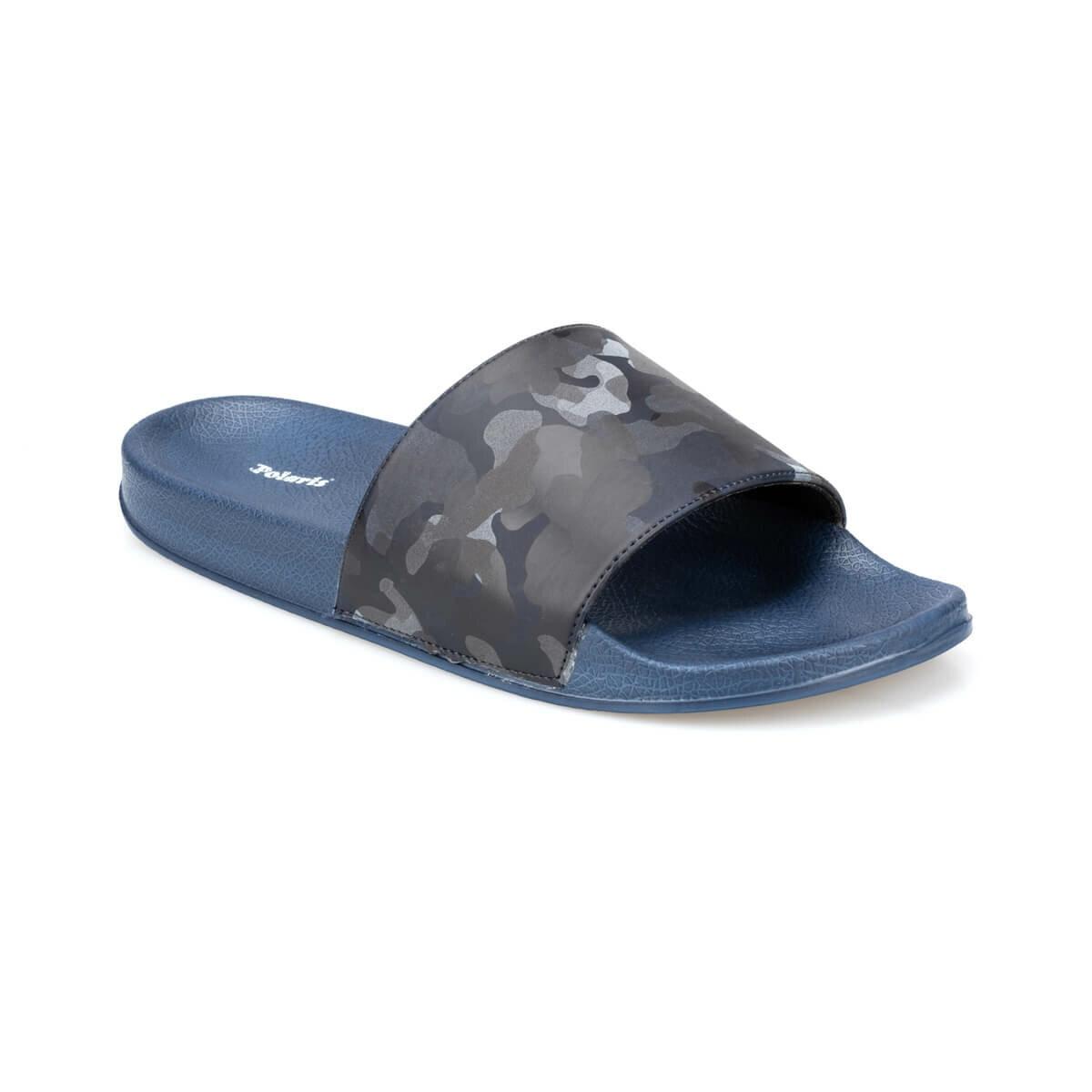 FLO Navy Blue Men's Slippers Men Shoes Couple Flip Flops Soft Black Casual Summer Male Chaussures Femme Polaris 91. 400069.M