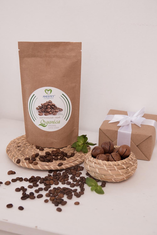 Body Scrub Coffee Original ANESTET, 220g. Organic Shop, Body Scrub, Exfoliante Corporal, Gommage Corps Exfoliant, Body Exfoliator