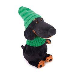 Soft toy Budi Basa Dog Ваксон in green hat and scarf, 25 cm MTpromo