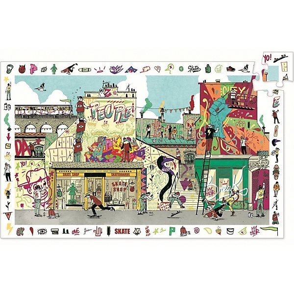 Puzzle on the observation DJECO \Street Art\, 200 parts MTpromo wooden puzzle djeco autumn in the woods