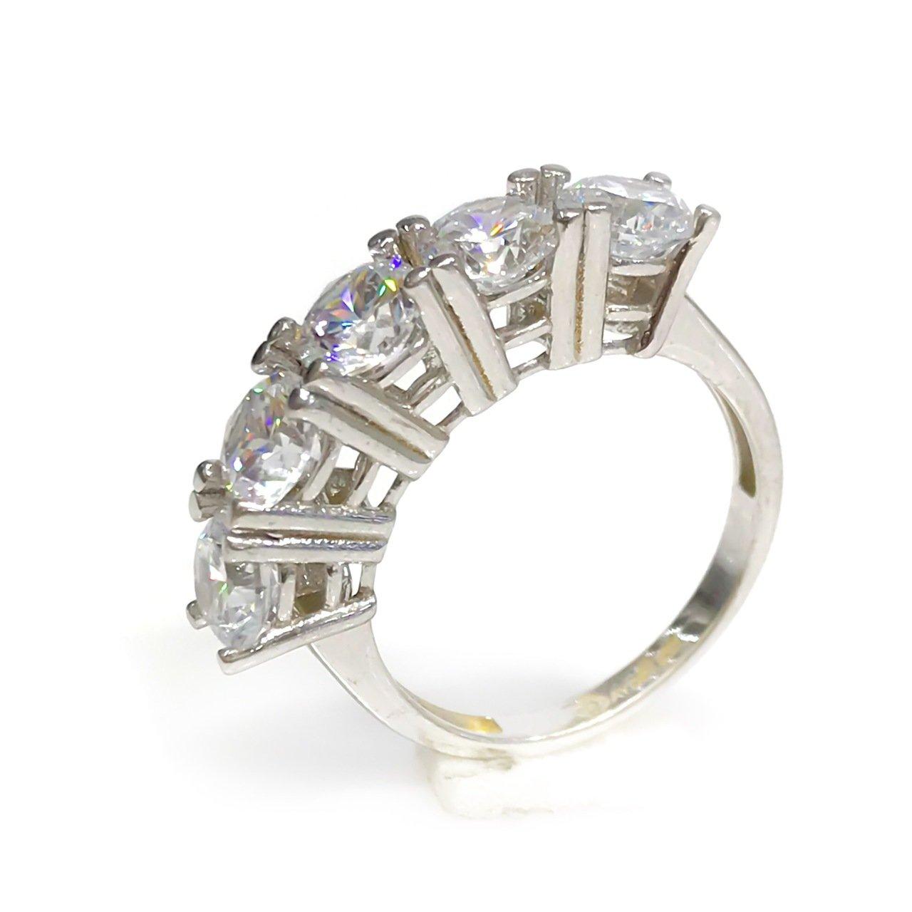5 Dibs Diamond Montür Showy White Gold Wedding Band Ring