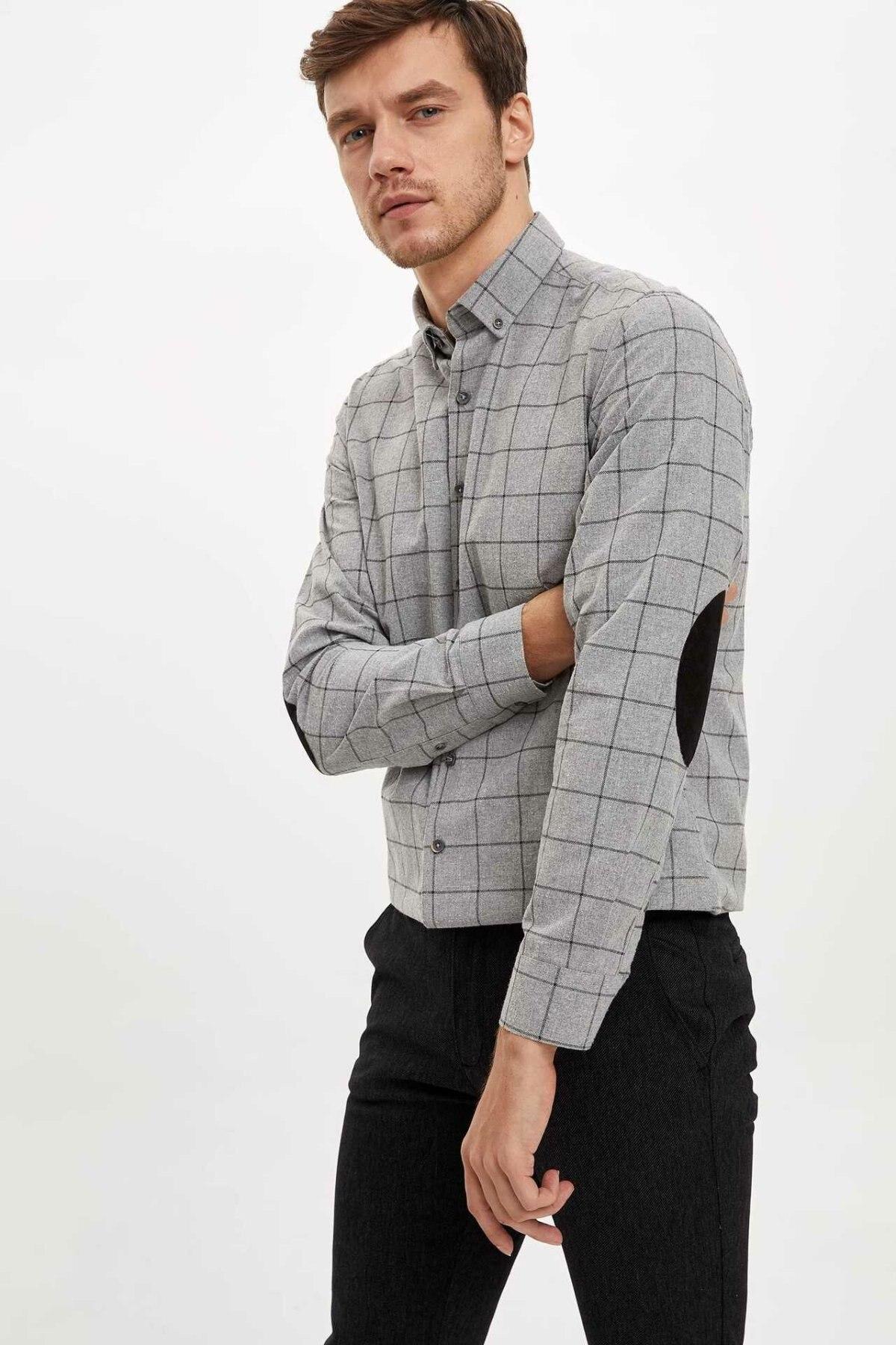 DeFacto Man Long Sleeve Shirt-M2961AZ19WN