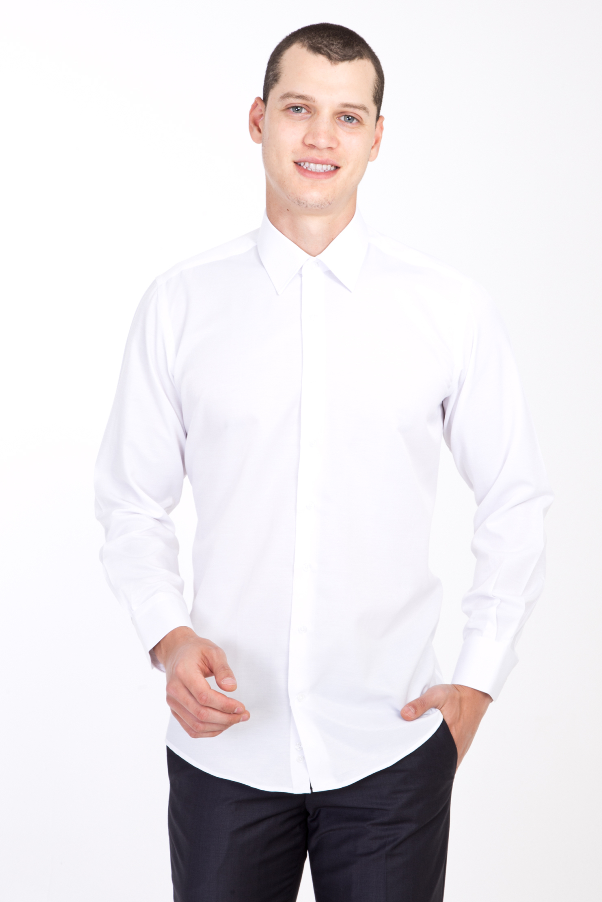 Kigili Mens Long Sleeve Solid Oxford Dress Shirt Skin-Frinedly High Quality Male 'S Casual Regular Slim Fit Tops Button Down Shirts