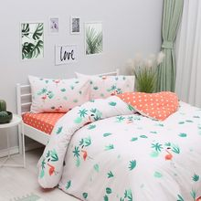 All Home by Zorluteks Double Duvet Cover Set - Flamingo
