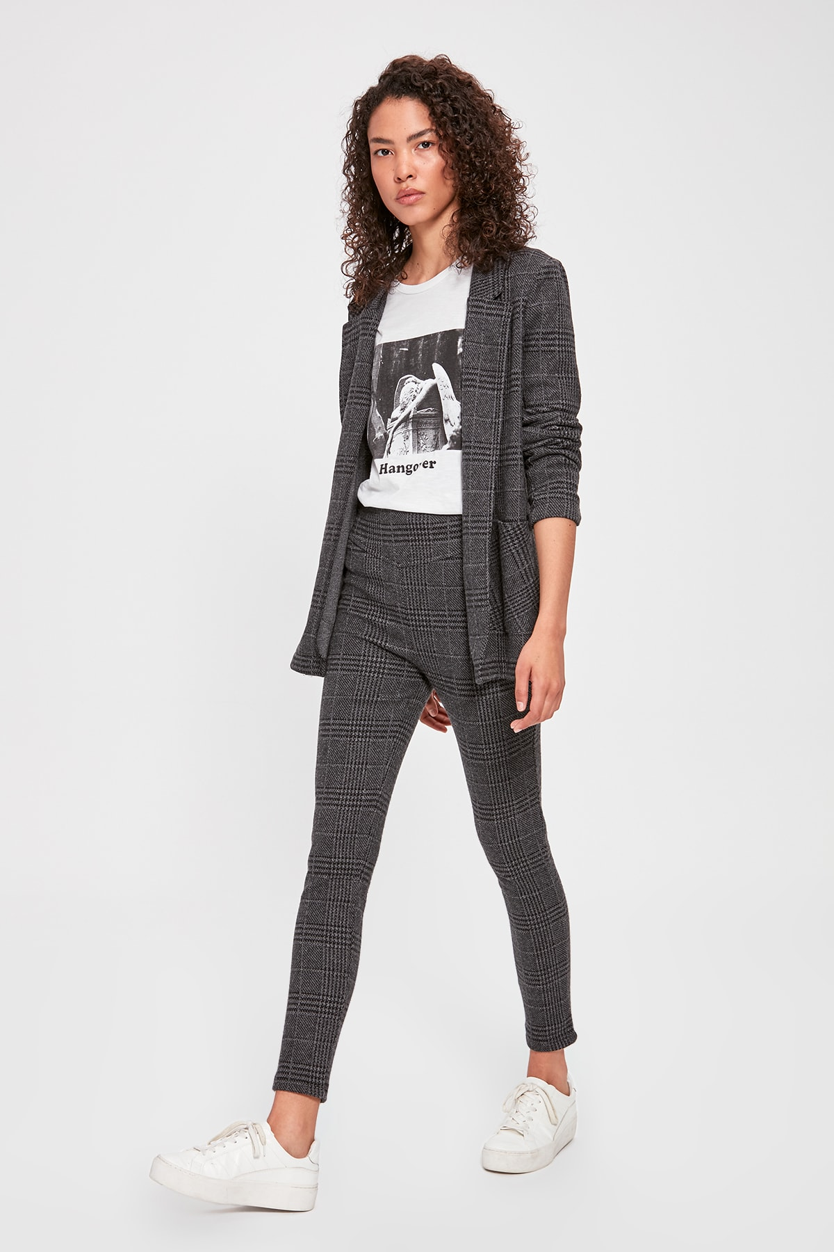 Trendyol Plaid Knitting Pants TWOAW20PL0081